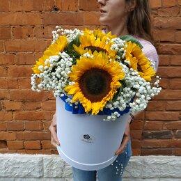 Цветы, букеты, композиции - Коробка подсолнухов, 0