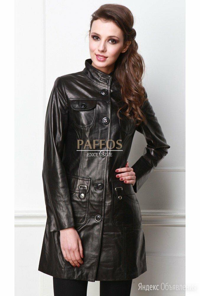 Черный кожаный плащ по цене 9990₽ - Плащи, фото 0