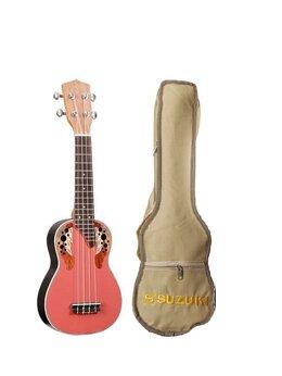 Укулеле - Suzuki SRUK-1 RD укулеле Сопрано, чехол в…, 0