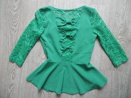 Блузки и кофточки - Зеленая кофточка с бантиками р-р44, 0