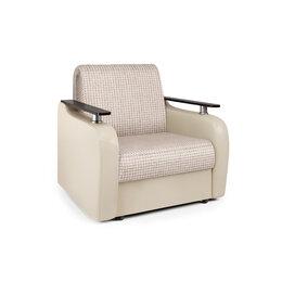 Кресла - Кресло-кровать «Гранд Д» Корфу беж и экокожа беж, 0