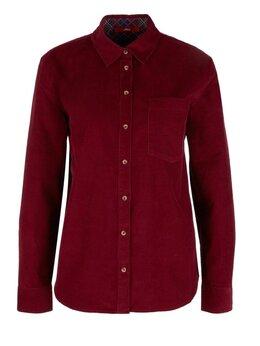 Блузки и кофточки - Вельветовая женская рубашка S.Oliver Германия…, 0
