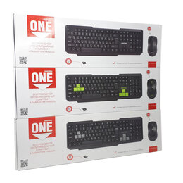 Комплекты клавиатур и мышей - Набор беспроводной клавиатура+мышь, 0