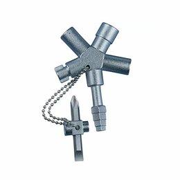 Аксессуары и запчасти - Ключи для электрошкафов HAUPA Ключ универсальный для электрошкафов 110692 HUP..., 0