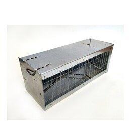 Отпугиватели и ловушки для птиц и грызунов - Крысоловка клетка металл + сетка (живоловка), 0
