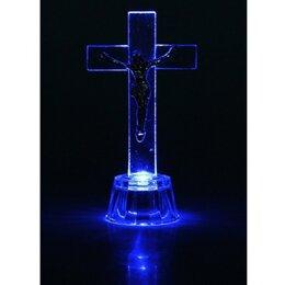 Ночники и декоративные светильники - Крест с LED подсветкой (стекло), 0