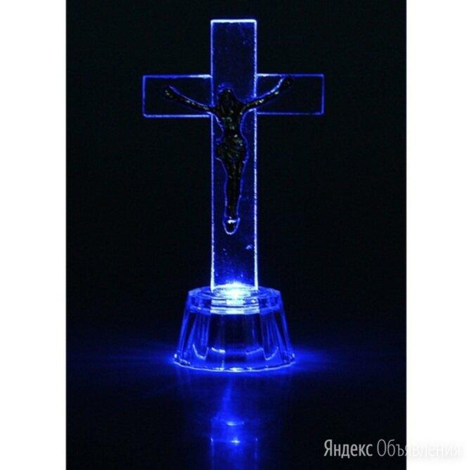 Крест с LED подсветкой (стекло) по цене 60₽ - Ночники и декоративные светильники, фото 0