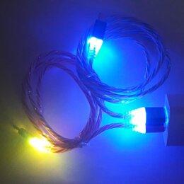 Зарядные устройства и адаптеры - Кабель microUSB с LED подсветкой, 0