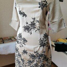 Платья - Вечернее жаккардовое платье, по фигуре, 0