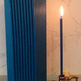 Декоративные свечи - Свечи восковые церковные синие, 0