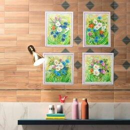"""Картины, постеры, гобелены, панно - Нинина картина. """"Прованс № 4. Ромашки и клевер"""", 0"""