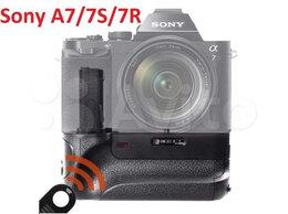 Аккумуляторы и зарядные устройства - Батарейный блок ручка на Sony A7/A7S/A7R + пульт, 0
