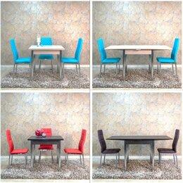 Столы и столики - Стол обеденный, венге и шимо светлый/хром,…, 0