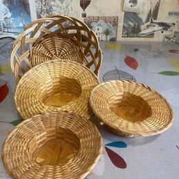 Рукоделие, поделки и сопутствующие товары - Корзинка, шляпки плетённые для кукол, декора, 0