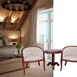 Стулья, табуретки - Чайная группа А-10. 2 деревянных чайных кресла и круглый чайный столик, 0