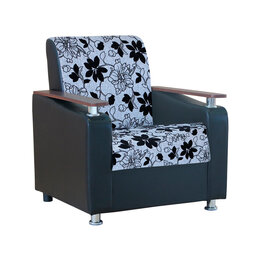Стулья, табуретки - Кресло Мелодия ДП №1 шенилл серый цветы, 0