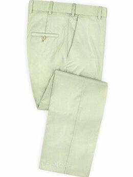 Брюки - Бледно зеленые брюки из шерсти – Scabal, 0