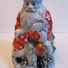 Статуэтки и фигурки - Дед Мороз ( в красном) Гжель,авторская роспись, 0