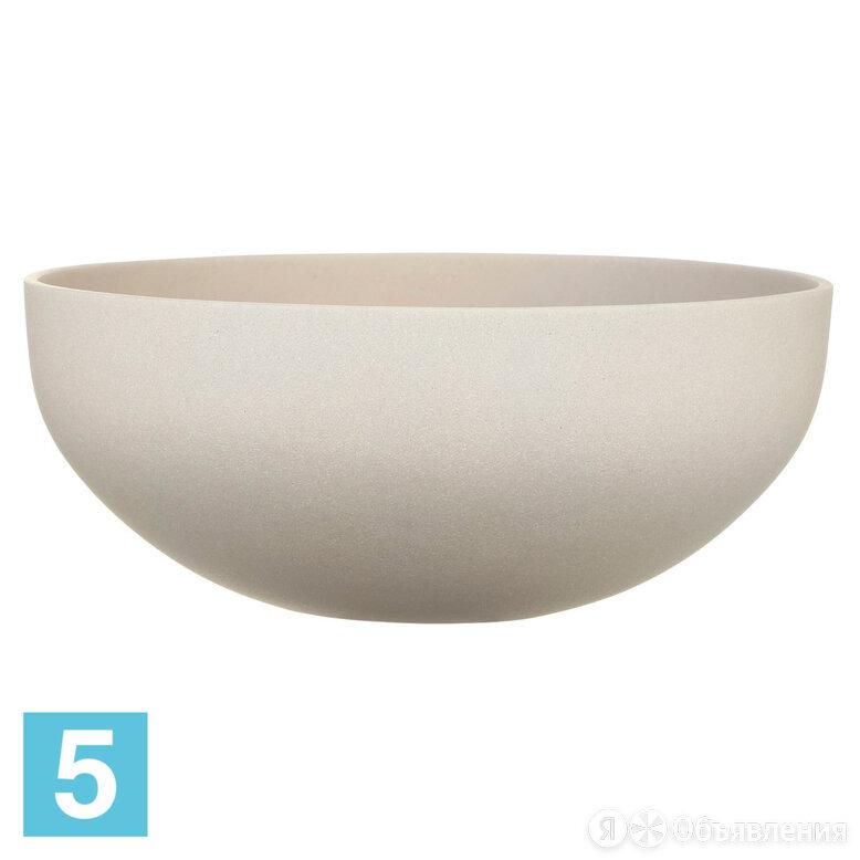 Напольное кашпо IDEALIST Стоун Кубок уайд круглая чаша,молочная 36,5-d, 16-h по цене 2168₽ - Горшки, подставки для цветов, фото 0
