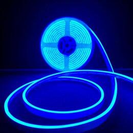 Светодиодные ленты - Гибкий неон 12в синий, 0