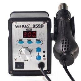 Электрические паяльники - Паяльная станция фен YIHUA 959 D, 0