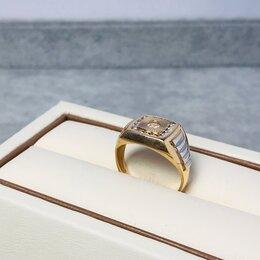 Кольца и перстни - Золотое кольцо с камнями 585пр размер: 18,5, 0