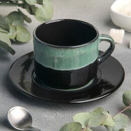 Кружки, блюдца и пары - Чайная пара Verde notte 200 мл, 0