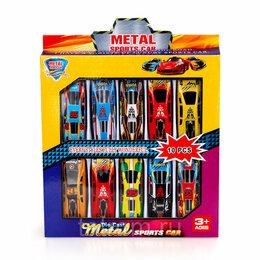 Детские наборы инструментов - Набор машинок металл 10 шт., 0
