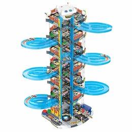 Машинки и техника - Детская игровая парковка 7 уровней, 0