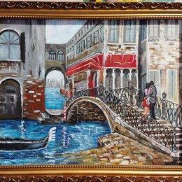 Картины, постеры, гобелены, панно - Картина маслом Венеция холст на ДВП40х50, 0