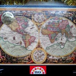 Пазлы - Пазл Educa 1000 деталей новый Старинная карта, 0