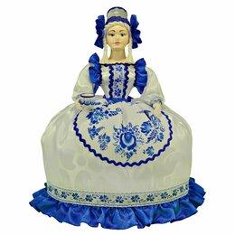 Прочие хозяйственные товары - Стиль Гжель кукла грелка белый и синий цвет Подарок женщине на 8 марта , 0