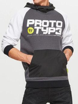 Толстовки - Новая толстовка худи с принтом prototyp3, 0