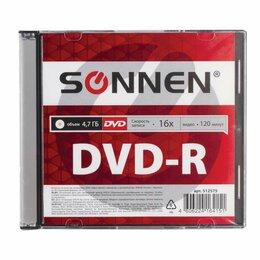 Диски - Диск DVD-R SONNEN, 4,7 Gb, 16x, Slim Case (1…, 0