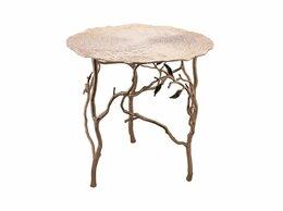 Столы и столики - Приставной столик круглый металлический с…, 0