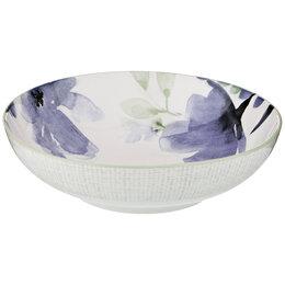 Блюда, салатники и соусники - Салатник фарфоровый голубой 20 см Aquarelle, 0
