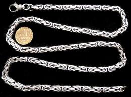Цепи - Серебряная цепь квадратный Кардинал.Вес 82,1…, 0