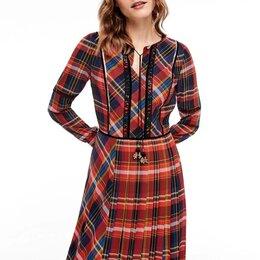 Платья - Платье S.Oliver Германия длинное в клетку новое, 0
