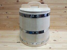 Бочки, кадки, жбаны - Кадка из кедра 30 л обручи из нержавеющей стали, 0