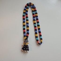 Колье и бусы - Ожерелье из бисера с подвеской, 0