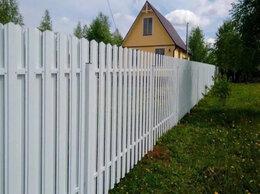 Заборчики, сетки и бордюрные ленты - Евроштакетник белый, 0
