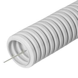 Кабеленесущие системы - Труба гофрированная ПВХ 20 мм DKC с протяжкой,…, 0