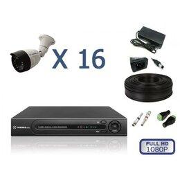 Камеры видеонаблюдения - Комплект уличного видеонаблюдения на 16 камер full, 0