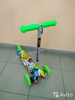 Самокаты - Скутер kepai до 40кг 3 колеса с принтом зеленый, 0