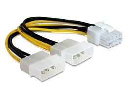 Кабели и разъемы - Разветвитель питания Cablexpert CC-PSU-81 2хMolex-, 0