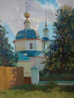 Картины, постеры, гобелены, панно - Картина маслом Храм в Правде, 0