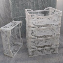 Корзины, коробки и контейнеры - Ящики пластиковые, белые 30х40х15, 0