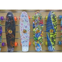 Скейтборды и лонгборды - Скейты до 60 кг с большими прозрачными мягкими колесами , 0