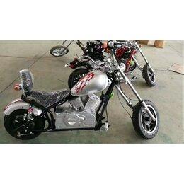 Мототехника и электровелосипеды - Электромотоцикл GreenCamel Chopper C100, 0