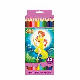 Рисование - Карандаши 12    цветов етов   SchoolФормат Принцессы-волшебницы шестигр картонна, 0